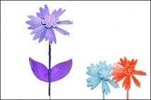Kwiat na piku 40cm, drewno