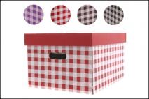 Pudełko dekoracyjne karton 320x250x185mm, krata
