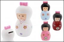 Skarbonka ceramiczna - lalka 7,5x14cm