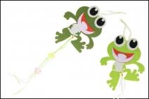 Zawieszka dekoracyjna - żaba filc