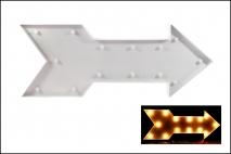 Dekoracja z diodą 23,5x62x4,5cm biała strzała