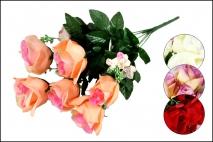Bukiet z kwiatów sztucznych 9 gł. 40cm