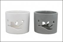 Świecznik ceramiczny 9,5x9,5x8cm