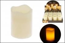 Świeczka woskowa LED 7x9cm