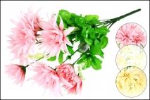 Bukiet z kwiatów sztucznych 9 gł. 40cm 4 kolory