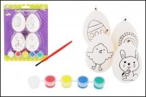 Wielk. Jajka do zdobienia z farbkami kpl 4szt, art. kreatywny