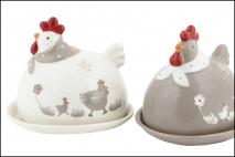 Wielk. Maselniczka ceramiczna 13.8x10.9x12.2cm; 15.6x12.8x1.8cm