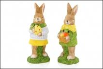Figurka ogrodowa królik 6x5x16.5cm. ceramika