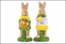 Figurka ogrodowa królik 8.5x8x21cm. ceramika