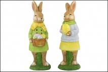 Wielk. Figurka dekoracyjna - królik 15x13,5x46cm, polyresin