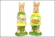 Figurka ogrodowa królik 10x9x26cm. ceramika