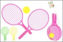 Zestaw do tenisa ziemnego z piłką  6,3cm 34x17cm