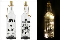 Butelka dekoracyjna  ze światłem LED 30x8cm