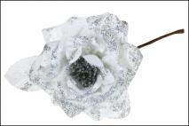 Kwiat dekoracyjny biały