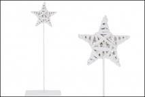Dekoracja wiklinowa - gwiazda 15x36x2cm