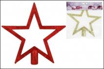 Ozd.boż. Czubek na choinkę gwiazda 20,5x19,5cm