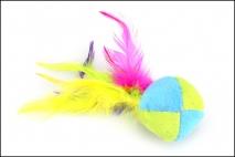Zabawka dla zwierząt 15cm, z piórkami