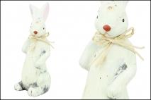 Wielk. Figurka ceramiczna - królik 7,5x6,5x17,5cm