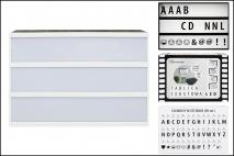 Świecąca tablica tekstowa 30x22x6cm 16 LED 6xAA baterie, 90 liter i znaków