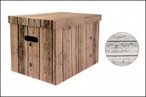 Pudełko dekoracyjne w białym ekspozyt. karton 460x320x330mm, drewno