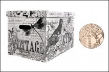 Pudełko dekoracyjne pak. 1 szt. stretch karton 460x320x330mm, retro