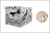 Pudełko dekoracyjne pak. 1 szt. stretch karton 320x250x185mm, retro