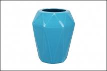 Wazon ceramiczny 14,5x17cm, niebieski