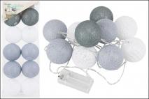 Lampki COTTON LIGHTS 10 LED śr.6cm 235cm