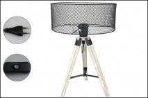 Lampka metalowo-drewniana 30x44cm