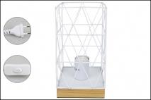 Lampka metalowa 42x37x65cm