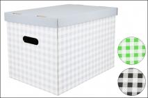 Pudełko dekoracyjne karton 460x320x330mm, krata