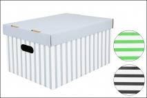 Pudełko dekoracyjne karton 320x250x185mm, pasy 1 szt STRETCH