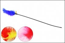 Zabawka dla zwierząt 62cm, z piórkami