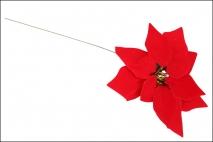 Kwiat sztuczny poinsecja 30cm