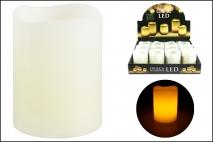 Świeczka woskowa LED 6,5x5cm