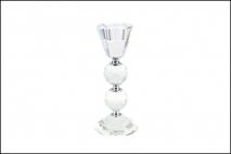 Świecznik dekoracyjny kryształ 8x8x17,8cm