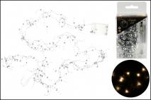 Lampki dekoracyjne 20LED - koraliki ciepłe światło