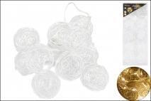 Lampki dekoracyjne 10LED śr.6cm, kule metalowe