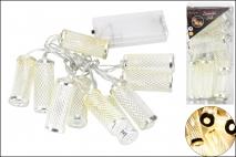 Lampki dekoracyjne 10LED 5x2cm metal srebrne