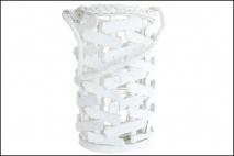 Lampion wiklinowy biały 17x29 cm