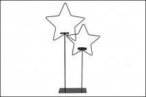 Ozd.boż. Świecznik metalowy - gwiazda 32x7x52