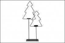 Ozd.boż. Świecznik metalowy - choinka 32x7x52
