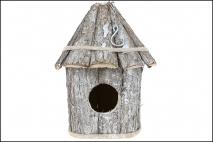 Podwieszana budka dla ptaków 35x19cm kora
