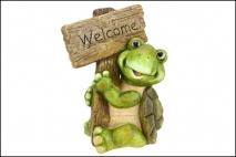 Figurka ogrodowa żaba 31x21. 5x41cm magnesia