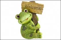 Figurka ogrodowa żaba 30x23x42,5cm magnesia