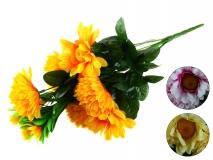 Bukiet kwiatów sztucznych 16 gł. 40cm 3 kolory