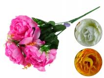 Bukiet kwiatów sztucznych 9 gł. 36cm
