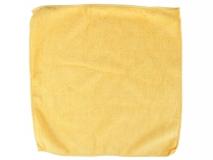 Ścierka mikrofibra 30x30cm, żółta dzianina