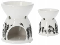 Kominek ceramiczny - piórka  9x9x10,5cm