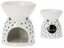 Kominek ceramiczny z naklejką 9x9x10,5cm HOME